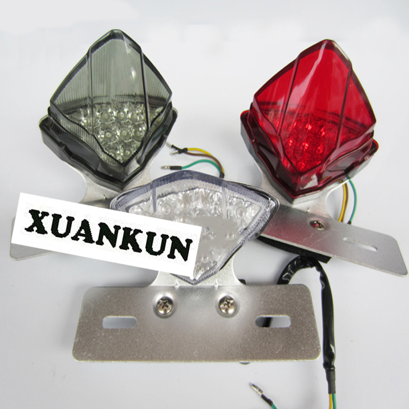 XUANKUN Street Car Sports Car Monkey Motorcycle Tail Lights Modified LED Brake Lights Tail Lighthouse Brake Lighthouse Lights