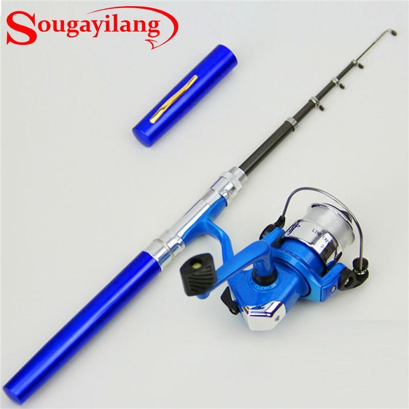Sougayilang 4 colors mini mini winter fishing rod with for Sougayilang spinning fishing reels