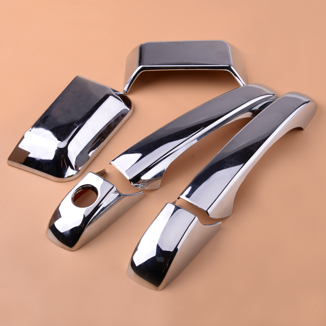 6pcs ABS Chrome Door Handle Cover Trim Molding Overlay Fit for Jeep Compass 2007 2008 2009 2010 2011 2012 2013 2014 2015 2016