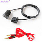 Biurlink Car Audio AUX-In Switch AUX Cable Adapter 18Pin Plug for VW Audi MFD2 RNS2