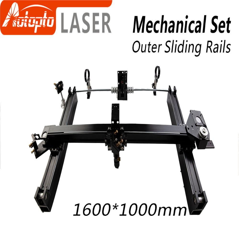Mechanical Parts Set 1600*1000mm Outer Sliding Rails Kits Spare Parts for DIY 1610 CO2 Laser Engraving Cutting Machine