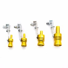 CNSPEED Car BOV Turbo Sound Whistle Simulator Sound Pipe Exhaust Muffler Pipe Blow off Valve Size S M L XL Gold Black Sliver