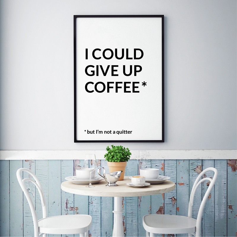 funny coffee quotes prints coffee bar wall art poster decor modern