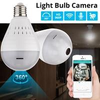KERUI LED Light 960P Wireless Panoramic Home Security WiFi CCTV Fisheye Bulb Lamp IP Camera 360