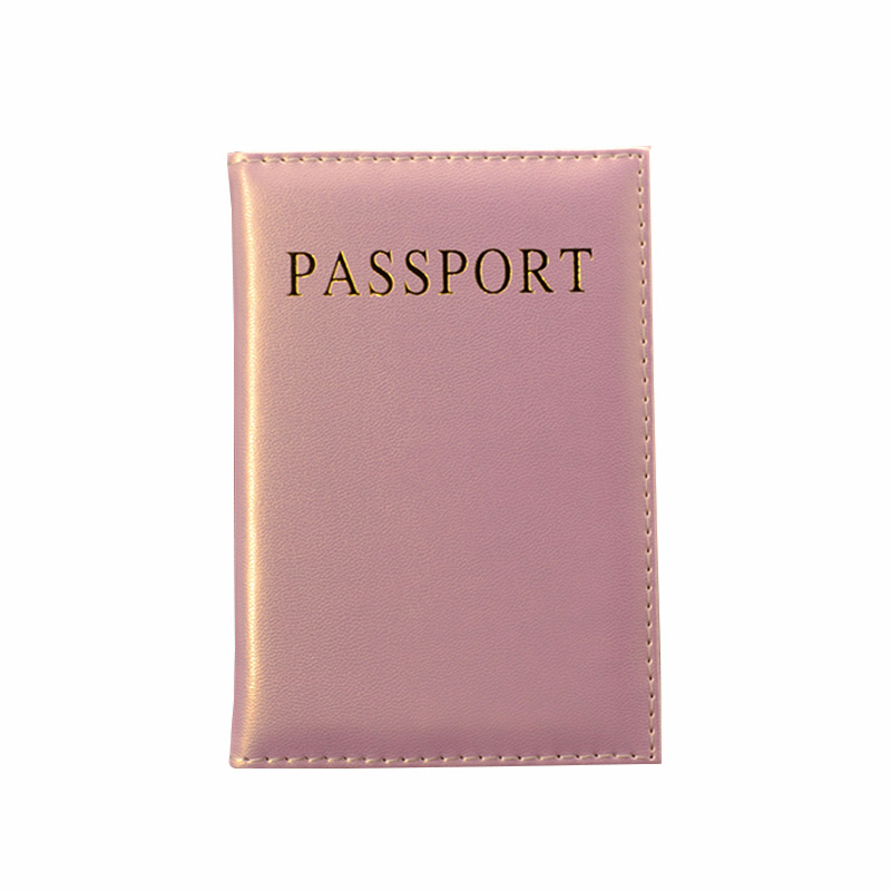 Passport-Cover Pink-Holder Universal Cute Women Girl Pu For Lovely