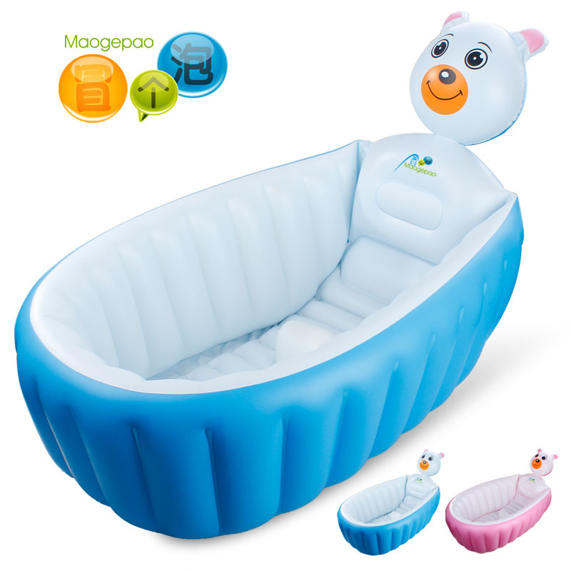 take a bubble bath tub baby inflatable portable folding bath bath barrel increase thickening in. Black Bedroom Furniture Sets. Home Design Ideas