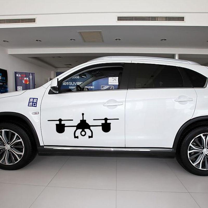 58 cm x 23.2 cm 2 x Drone Quadcoper Gráfica (uno Para Cada Lado) Etiqueta Engomada del coche Para El Carro Ventana Puerta Auto del Vinilo de 9 Colores(China)