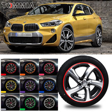 цена на For BMW X2 Car Hub Trim Decoration Anti-Collision Strip Wheel Rim Protector Ring Wheel Tire Edge Changer Guard Styling stickers