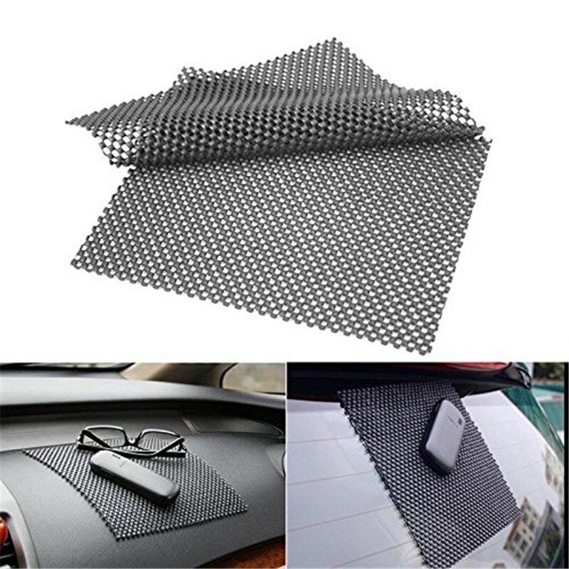 2 pièces haute qualité voiture tableau de bord anti-dérapant collant Premium tapis pour téléphone GPS cartes noir PVC mousse antidérapant Pad accessoires 22*19 cm