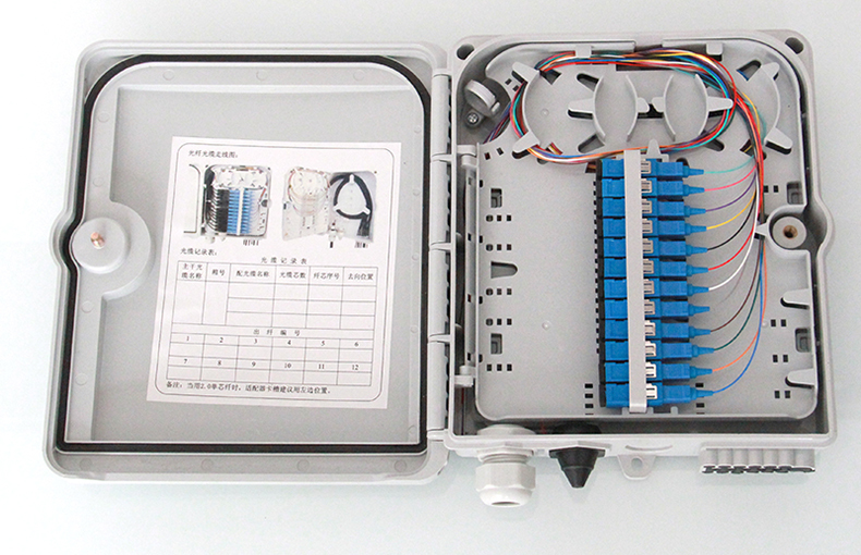 Free Shipping FTTH 12 Cores Termination Box Fiber Optic FTTH Box Fiber Optic Distribution Box with 12pcs Adaptor and Pigtails