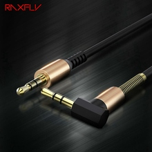 RAXFLY 3.5MM Audio Cable 3.5 Jack to Jack AUX Cable For iPhone Headphone Beats Speaker Car Male to Male AUX Cord Spring Cable цена и фото