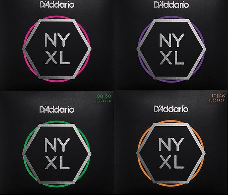D'Addario NYXL Standardmätare Nickelhår Elektriska Gitarrsträngar NYXL0838 NYXL0942 NYXL0946 NYXL1046 NYXL1052 NYXL1149