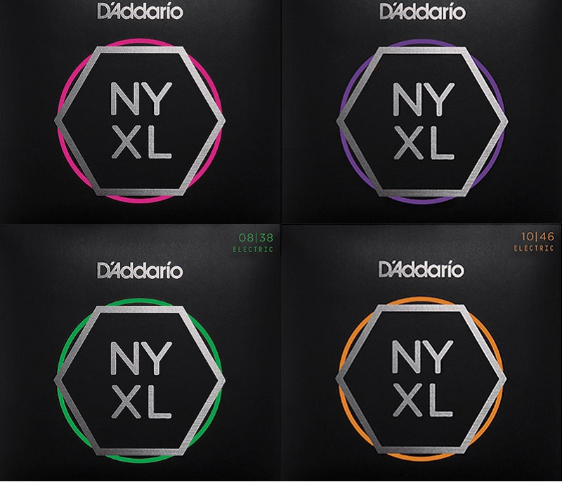 D'Addario NYXL Standard Gauge النيكل الجرح غيتار كهربائي سلاسل NYXL0838 NYXL0942 NYXL0946 NYXL1046 NYXL1052 NYXL1149