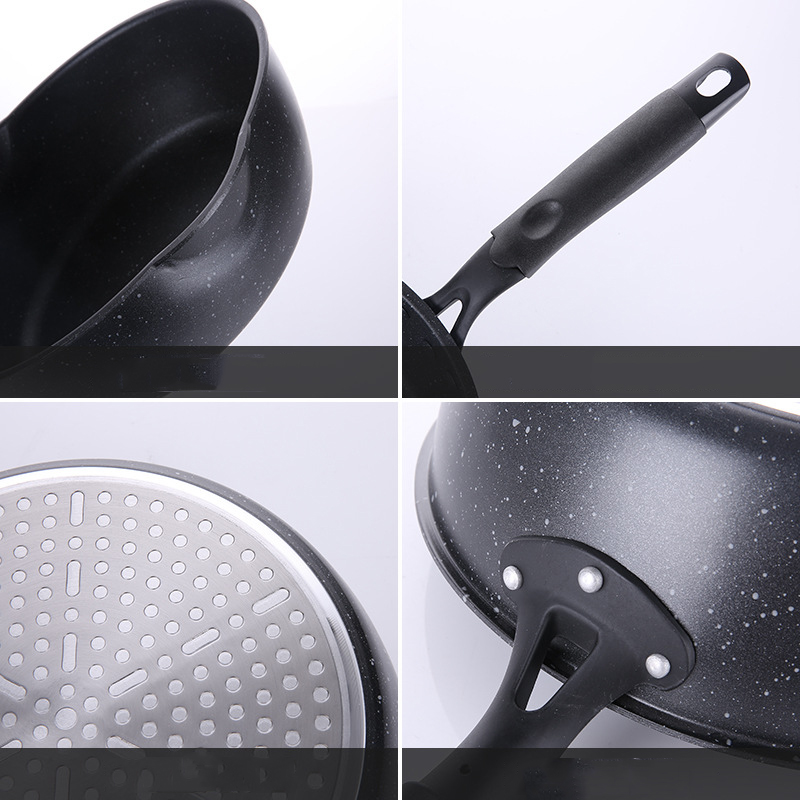 Image 3 - Keelorn 20CM Maifan Stone Wok Non stick Pan Frying Pans Soup Pot Frying Pan Multi purpose Kitchen Pot General Use for Gas-in Pans from Home & Garden
