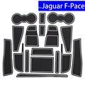 Нескользящие Коврики для автомобильных дверей  17 шт.  коврики для ворот  Ковров  подставка для подстаканников  коврики для Jaguar F-Pace  коврик дл...