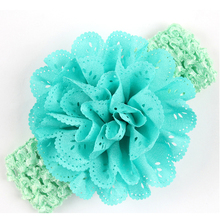 TWDVS 1PC Headwear KIds Headband Flower Hair Bow Newbornl Hair bands Newborn Hair Accessories w--032