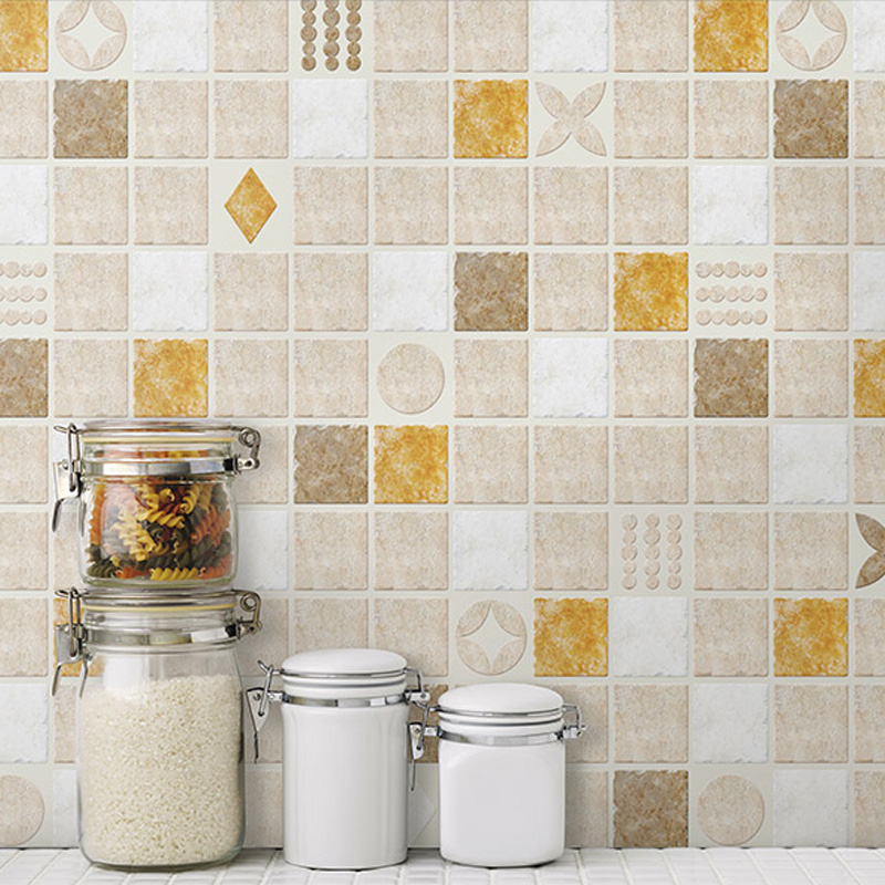 Oil wallpaper bathroom waterproof stickers high ...