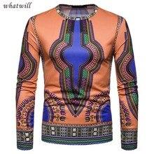 Новая Африка одежда мода халат африканского в стиле хип-хоп 3d печатных Дашики случайные африканских одежда платья футболка