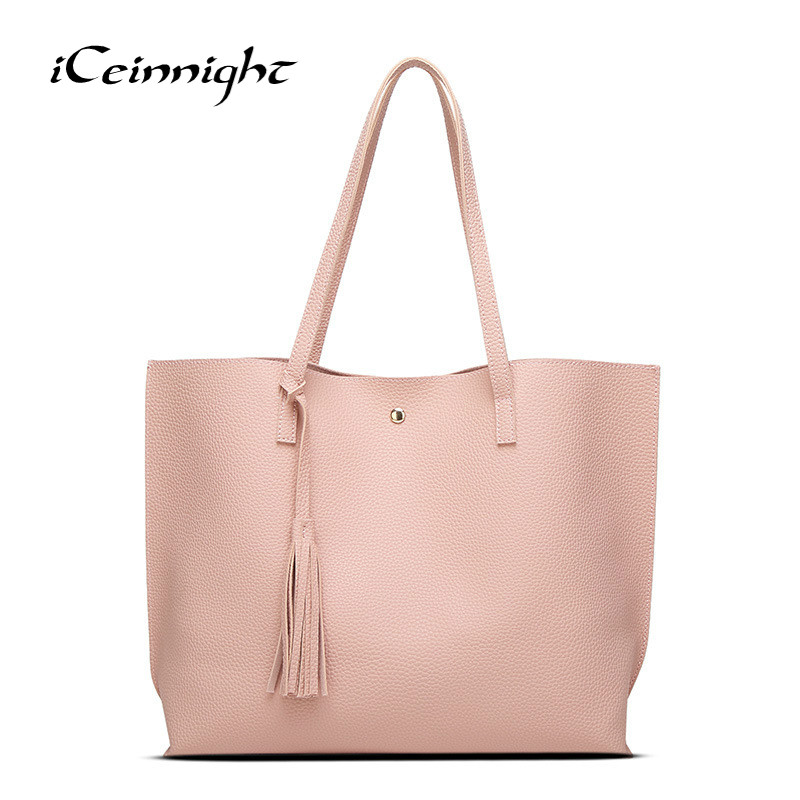 iCeinnight Trade Price High Quality Women Handbag 2018 Design Shopping Bag Famous Luxury Brand Shoulder Bag Female Messenger Bag