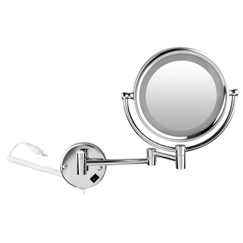 IG-8.5 inch LED Gorgeous LED wall vanity mirror Cheval vanity mirror 5/7 / 10x zoom mirrors (5x) silver недорго, оригинальная цена