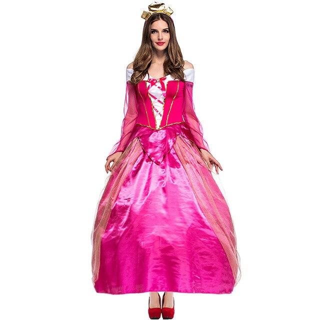 pfirsich prinzessin kost m frauen fantasia erwachsene rosa prinzessin kleid halloween kost me. Black Bedroom Furniture Sets. Home Design Ideas
