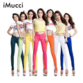 iMucci Plus Size Women Jeans Ladys Candy Colors Pencil Pants Spring Autumn Sexy Skinny Fit Elasticity Jeans Casual Trousers