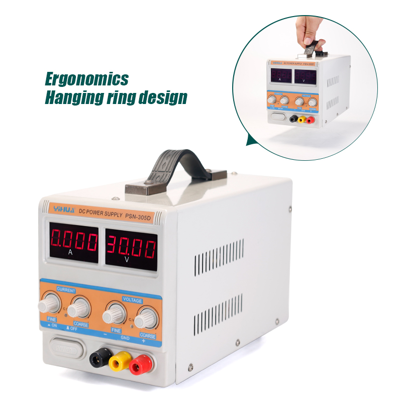 цена на Four Digital Precise Display Current Value Power Supply YIHUA 305D- III 30V 5A Adjustable Power Supply Cellphone Repair