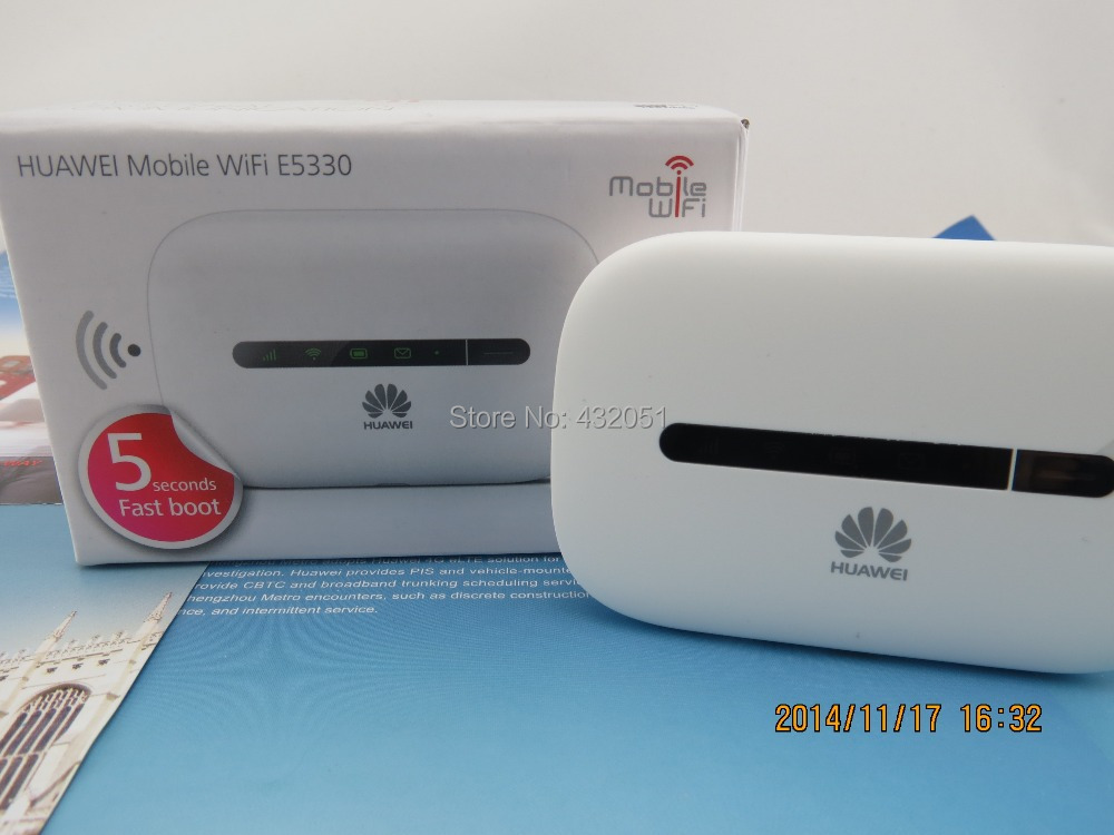 Unlocked Huawei E5330 3G Wireless hotspot HSPA mobile Pocket Wifi MIFI 21 6Mbps