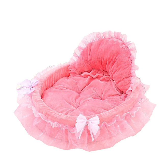Cute Laced Bows Decorated Dog Bed