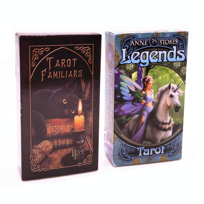 2019 New Tarot Deck Familiars Tarot Legends Tarot Family Party Board Game  78 Cards/set Funny Card Game