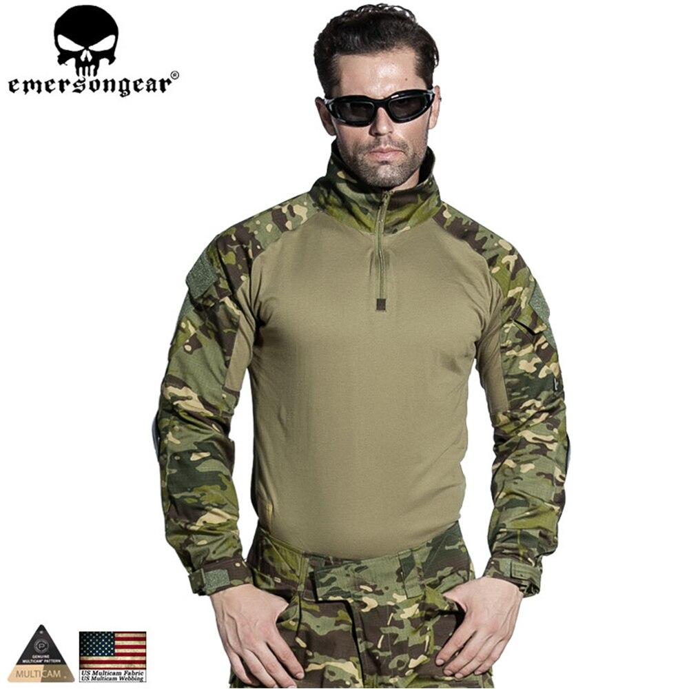 EMERSONGEAR Gen 2 BDU Airsoft Combat Uniform Training Clothing Tactical Shirt Pants with Knee Pads Multicam Tropic EM6972 emerson g2 tactical pants with knee pads airsoft combat training military trousers bdu army airsoft paintball pants em8525