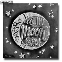 Full Square/Round drill 5D DIY diamond Painting Cartoon Cross Stitch Love You To the Moon Diamond Embroidery Mosaic Rhinestone(China)