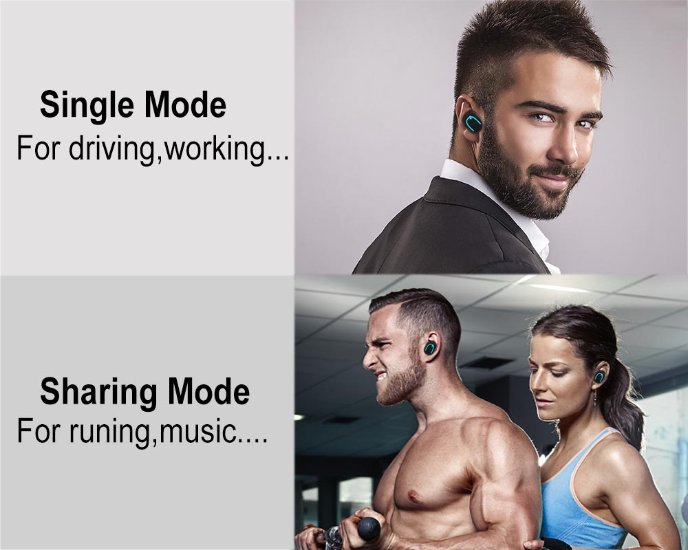 Dual Mode earphones sharing and single mode