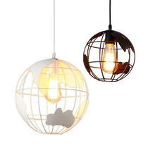 Led Creative Restaurant Tieyi Pendant Lamp Modern Fashion Bedroom Exhibition Hall Single Globe led Hanging Lights цена 2017