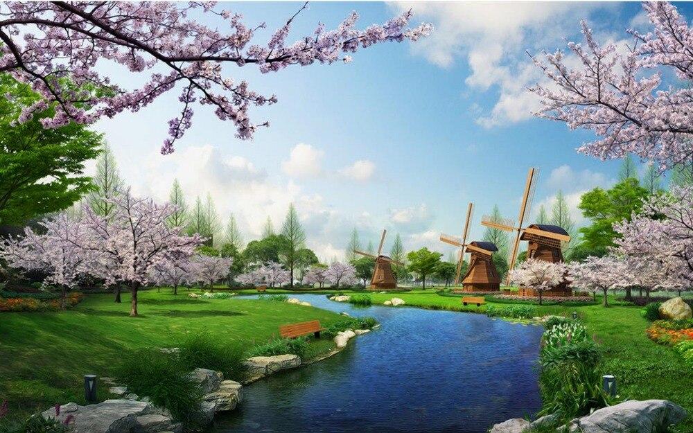 3d murals landscape mural backdrop landscapes natural modern tv