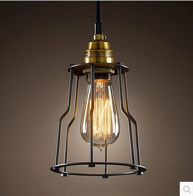 60W Edison Loft Vintage Lamp Industrial Pendant Light Fixtures Metal Lampshade Indoor Lighting Hanging Lights Lamparas 1