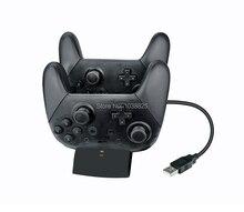 Kablosuz Pro Oyun Denetleyicisi Şarj Nintendo Anahtarı için şarj standı İstasyonu Standı Anahtarı Pro Denetleyici Göstergesi ile