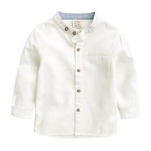 Рубашки с длинными рукавами для мальчиков Новинка года, белая детская одежда весенне-Осенняя детская рубашка рубашки для мальчиков 1-7 лет