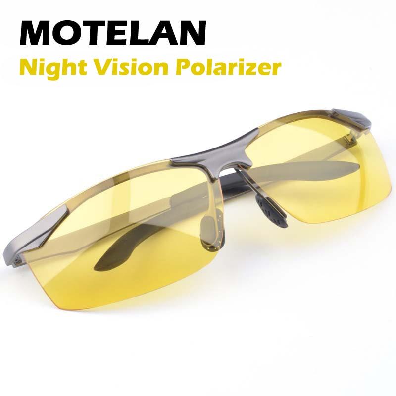Polarized Sunglasses Night Vision Goggles men's car Driving Glasses Anti-glare Silver/Black Alloy Frame glasses Night Polarizer