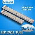 2G11 LED Tube Light 10w 14w SMD5730 AC90-265V cold white warm white  High Power SMD 2G11 Led Light