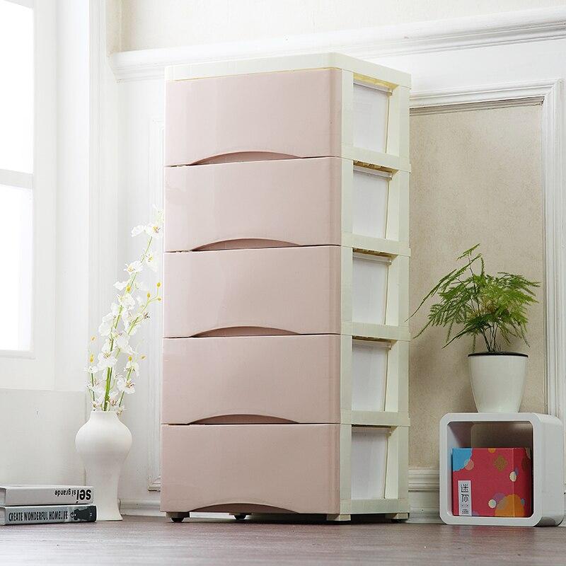 Einfache Stil Schublade Lagerung Schränke DIY Montage Schrank Lagerung Box  Sparen Raum Bewegliche Einfarbig Kunststoff Cloest