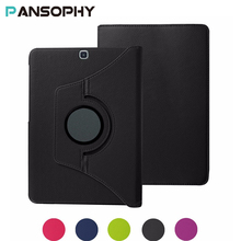 """PU Leather Case Stand Cover For Samsung Galaxy Tab A 9.7 SM T550 T555 P550 9.7"""" 360 Rotating Tablet Smart Flip Cover SM-T550"""