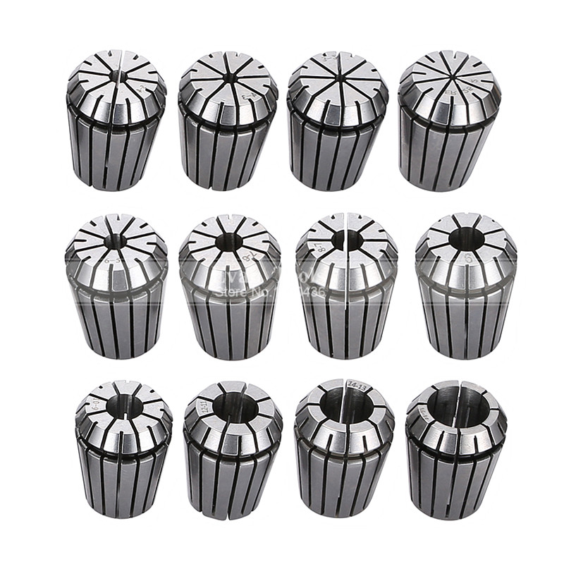 12 Pcs ER25 2-16mm Collet Chuck Spring Collet Set CNC Milling Machine Engraving Lathe Tools