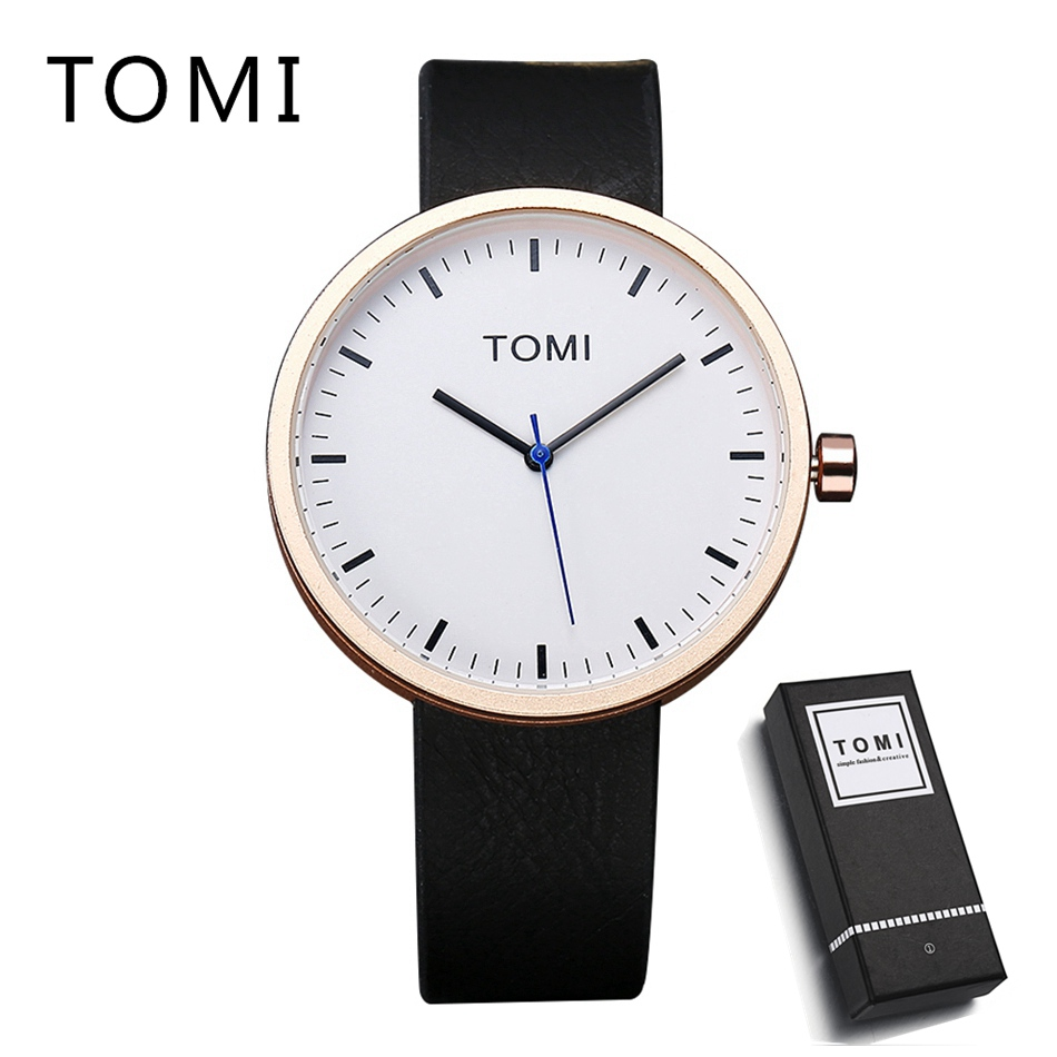 2018 TOMI Mens Watches Top Brand Luxury Sport Waterproof WristWatches Quartz Business Dress Watches Brands Leather Mens Watch tomi brand fashion men business watch clock leather strap quartz wristwatches sport waterproof watch mens black watches
