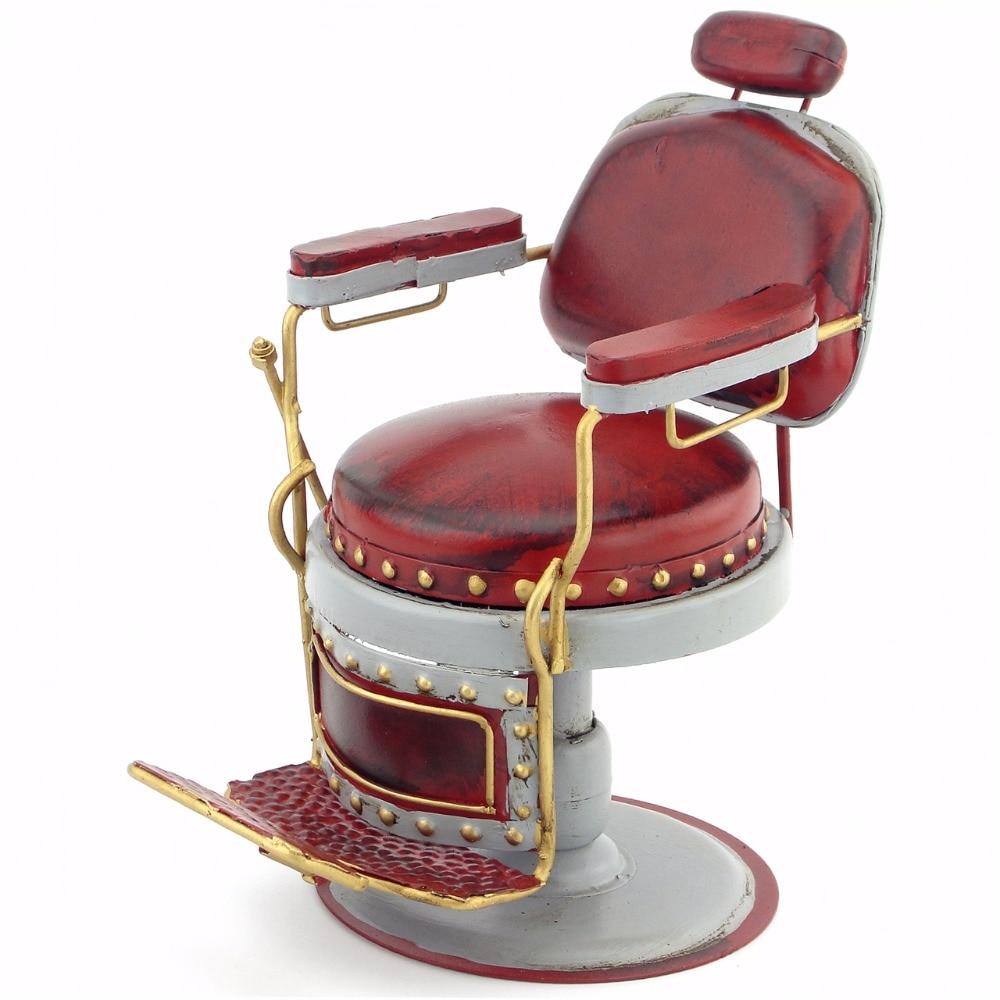 Retro Iron Model Decorations Creative Crafts Barber Chair Micro Metal Decoration Creative Home Furnishings Tinplate Handmade