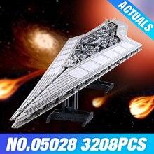 LEPIN 05028 Star Plan Execytor Super Destroyer Model Building Block Brick DIY Educational 10221 Wars Toys