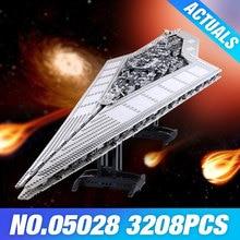 LEPIN 05028 Star Plan Execytor Super Destroyer Model Building Block Brick DIY Educational Compatible 10221 Toys