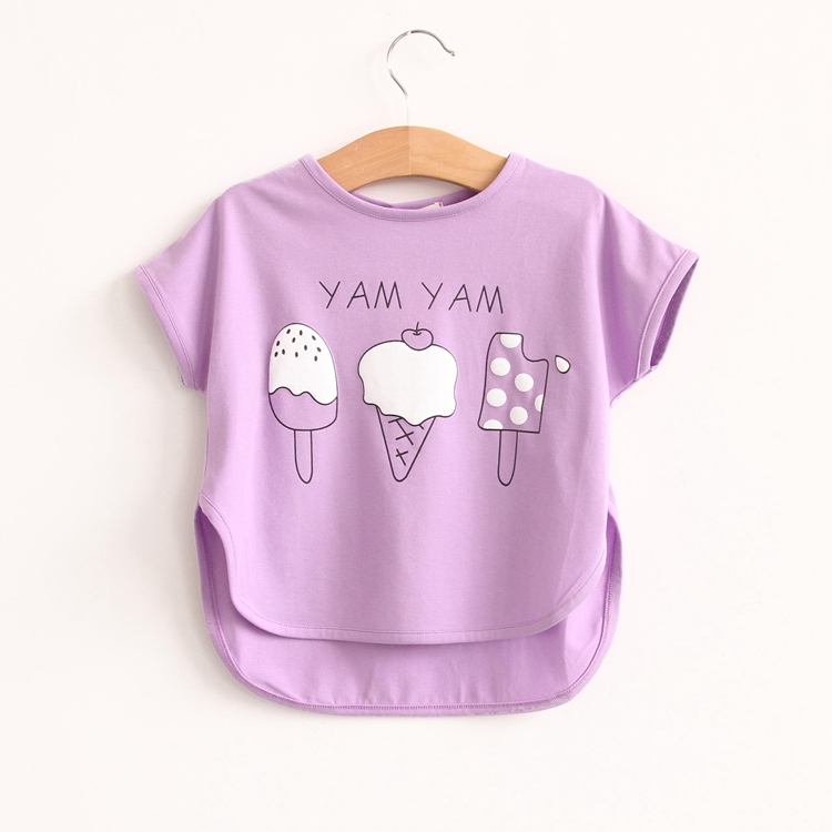265a7c5f Free shipping,summer,Hot sale 2016 child clothing ,baby girl t shirt,colours  ice cream,Korean,Tops,Tees,Casual,Fashion,Kids wear