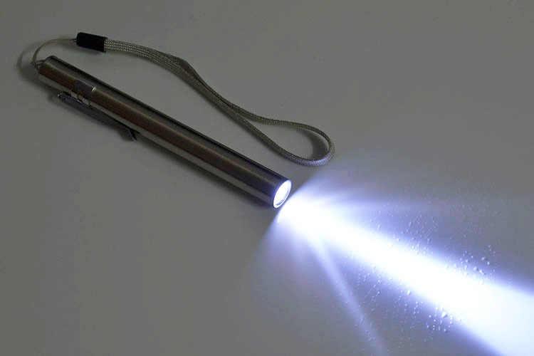In Lega di alluminio Impermeabile LED USB Torcia Elettrica Addebitabile Potente Batteria Ricaricabile Della Torcia Penna Portachiavi Torcia Elettrica Per i medici