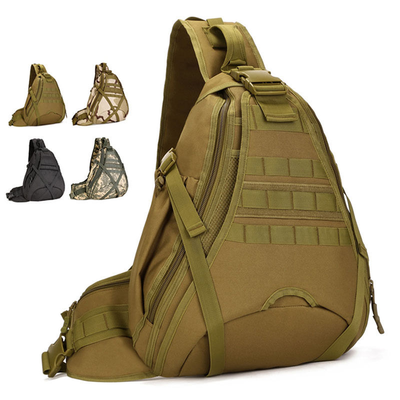 da49cda0826e Новый Для мужчин 1000D нейлон военный Путешествия сумка бутылка для воды  Слинг Грудь день Back Pack